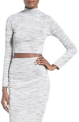 Women's Missguided Space Dye Turtleneck Crop Top