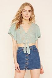 Forever 21 Contemporary Crochet Crop Top