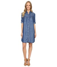 Kut From The Kloth Ruthy Printed Dress Blue Women's Dress