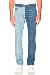 Lanvin 5 Pocket Skinny Mix In Blue