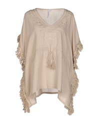 Care Of You Shirts Blouses Women Beige