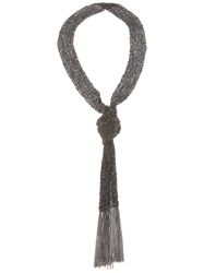 Christian Koban Woven Necklace Black