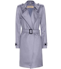 Burberry Cashmere Wrap Trench Coat Grey
