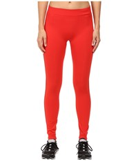 Adidas By Stella Mccartney Essentials Seamless Mesh Tights Ax7342 Red Women's Casual Pants