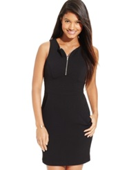 Teeze Me Juniors' Zipper Front Sheath Tank Dress