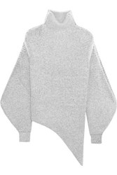 Stella Mccartney Oversized Stretch Wool Blend Boucle Sweater Off White