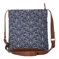 White Stuff Small Canvas Butterfly Issy Bag Bejing Blue