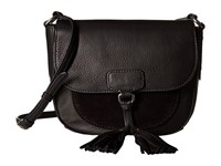 Frye Clara Saddle Black Soft Vintage Leather Suede Handbags