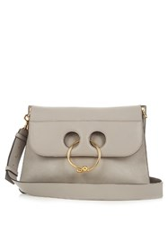 J.W.Anderson Pierce Large Leather And Suede Shoulder Bag Grey