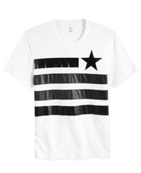 Inc International Concepts Faux Leather Flag T Shirt Only At Macy's White Pure