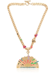 Maria Francesca Pepe Holiday Exclusive Day Necklace Gold Black