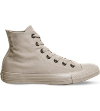 Converse All Star High Top Canvas Trainers Tan Sand Mono