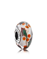 Pandora Design Pandora Charm Sterling Silver And Murano Glass Christmas Holly Moments Collection