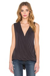State Of Being Cupro Drape Top Black