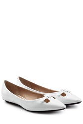 Marc Jacobs Mouse Patent Leather Ballerinas White