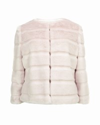 Ted Baker Fabunni Faux Fur Cropped Jacket Nude