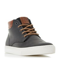 Dune Scotty Padded Cuff Chukka Boots Black