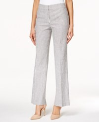 Nine West Seersucker Pants Navy White