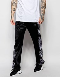 Jaded London Joggers With Popper Leg Fastening Black