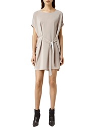 Allsaints Sonny Silk Dress Taupe
