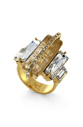 Louise Et Cie Stone Statement Ring Gold Citron Crystal
