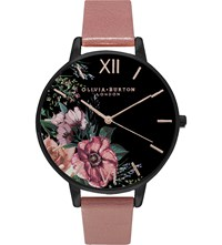 Olivia Burton Ob15fs60 Leather Watch Pink