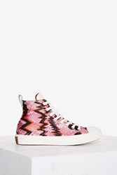 Converse X Missoni Chuck Taylor All Star High Top Sneaker Pink