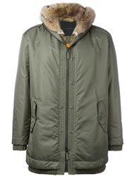 Ermanno Scervino Hooded Parka Green