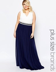 Forever Unique Plus Embellished Grecian Maxi Dress Multi