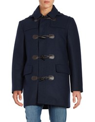 Lauren Ralph Lauren Wool Blend Toggle Coat Marine