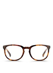 Linda Farrow Keyhole Bridge Tortoiseshell Acetate Optical Glasses Animal Print