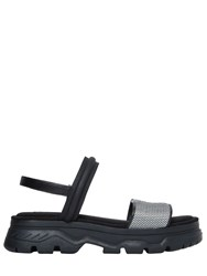 Dkny 40Mm Addie Nylon And Leather Wedge Sandals