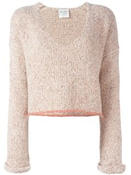 Forte Forte V Neck Jumper Nude And Neutrals