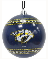 Memory Company Nashville Predators Ugly Sweater Ball Ornament Blue