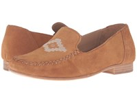 Soludos Loafer Embroidered Saddle Suede Women's Slip On Shoes Tan