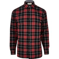 Only And Sons River Island Mens Black Check Shirt