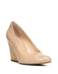 Franco Sarto Calix Patent Wedge Pumps Nude