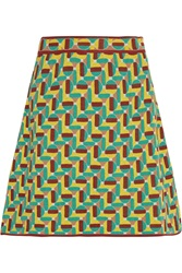 M Missoni Jacquard Knit Cotton Blend Mini Skirt