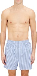 Barneys New York Mixed Stripe Boxers Blue