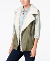 Sanctuary Alexis Faux Sherpa Vest Military
