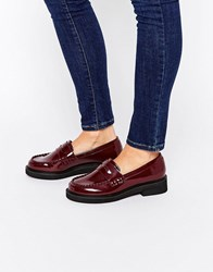 Asos Mailer Loafers Burg Box Red