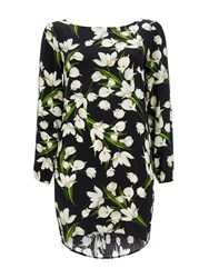 Wallis Lily Floral Tunic Dress Black