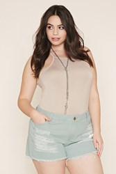 Forever 21 Plus Size Distressed Cutoffs