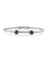 Alor Gray Stainless Steel And Two Onyx Bangle Women's