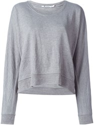 T By Alexander Wang Scoop Neck Sweatshirt Grey