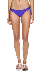 Shoshanna Blue Lace Up Bikini Bottoms