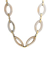 John Hardy Dot Gold And Silver Link Necklace With Buffalo Horn 36