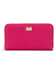 Dolce And Gabbana 'Dauphine' Zip Around Wallet Pink And Purple