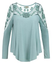Khujo Sudem Long Sleeved Top Dirty Aqua Mint