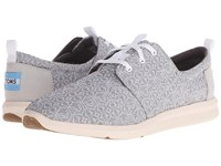 Toms Del Rey Sneaker Grey Tribal Women's Lace Up Casual Shoes Gray